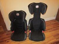 2 Britax Adventure child car seats. Child 15 to 36 kgs