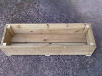 Large Decking Wooden Garden Planter 1.2M (4ft)