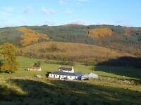 Beautiful, 2 Bedroom, unfurnished, semi-detached cottage in Glendaruel