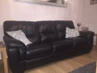 Black leather sofas for sale. Excellent condition