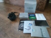 Nintendo Gameboy Advance SP (Silver) Boxed inc Pokemon Emerald and Sapphire Blue