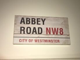 Abbey Road and Carnaby Street Wooden Street Signs