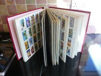 Collection of 24 Sets of Tea/Cigarette Cards in an album