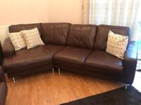 Leather suite of furniture