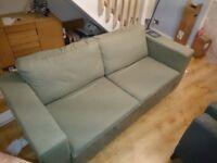 Nabru 3 seat flat pack sofa - Green