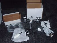 bathroom mixer taps brand new boxed with shower