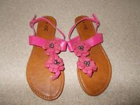 Brand new pink sandals size 6