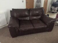 Brown Leather Sofa's