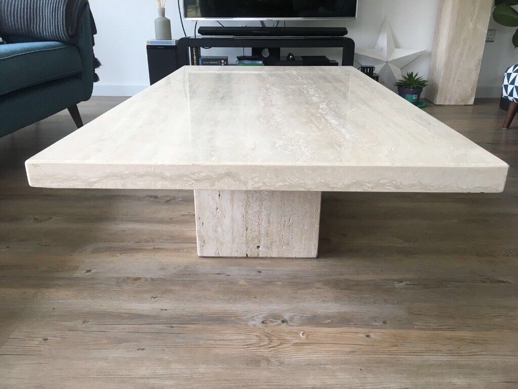 Italian Marble Effect Stone Coffee Table In Forres