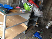 dexion style shelving racking 2 off cut to 3 shelf size industrial used