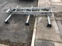 Roof rack with a easy load ladder rack