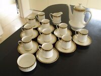 22 piece Paragon Athena Coffee Set. Near mint condition, rarely used, no faults.