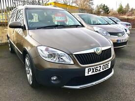 2012 62 SKODA ROOMSTER 1.6 SCOUT TDI CR 5d 103 BHP