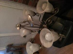 5 light chandelier stainless