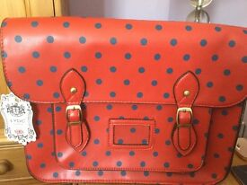 Spotty Red Satchell