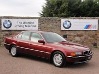 BMW E38 730i V8, Automatic, 1994 / M Reg, 90k Miles, 2 Owners, MOT: January 2018, Calypso Red