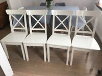 White Ingolf Dining Chairs from IKEA