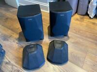 Set of four Sony speakers