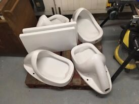 4 x Duravit Urinals and 2 x dividers
