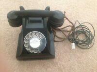 Black bakelite 1950's telephone - PICK UP ONLY