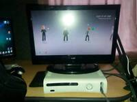Xbox 360 with 19 inch hdtv