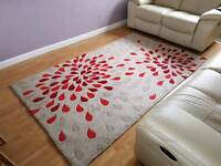 Red/Natural rug