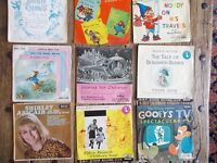 1960's Vintage Children's Records 45 RPM Various (18 in total)