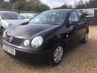 VOLKSWAGEN POLO 1.4 S HATCHBACK 5DR 2002*IDEAL FIRST CAR*CHEAP INSURANCE*VERY LOW MILEAGE*HPI CLEAR