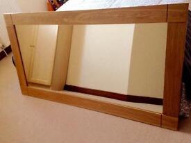 Natural Solid Oak Wall Mirror