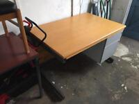 Solid Wooden Desk with Draws - Good Condition