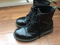Dr Martins Black Leather size 6