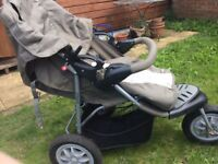 Mothercare Mother care Excursion PushChair and Car seat Pram Stroller Used Good Condition