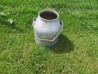 Vintage Milk Churn with Handle - Plant Stand / Garden