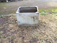 Galvanised water tank planter