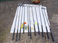 GOLF CLUBS WITH BAG VGC.