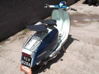 lambretta Li 125 series 3 italian import uk registered and mot ready to ride