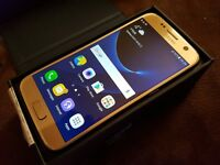 Samsung Galaxy S7 Unlocked Great Condition in Gold