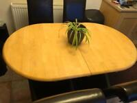 Extending dining table 6 chairs