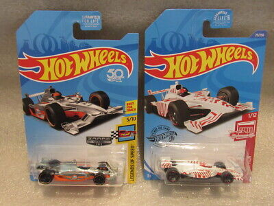 HOT WHEELS INDY 500 OVAL LOT OF 2 - ZAMAC GULF INDY 500 & TARGET RED EDITION