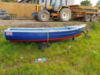 Small 16ft Boat, Trailer and outboard engine. Good condition no leaks.