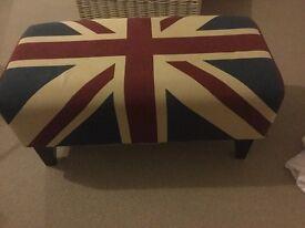 Footstool Union Jack