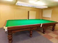 Snooker Table : Full Size (12ft x 6ft) Antique Burroughs & Watts