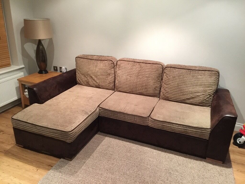 Corner Sofa with pull out bed   SOLD   in Verwood, Dorset ...
