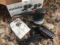 Metabo sxe 450 turbo tec random orbital sander