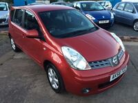 STUNNING--2008 NISSAN NOTE ACENTA 1.4L--MOT UNTIL JULY 2017**LOW MILEAGE** FULL SERVICE HISTORY