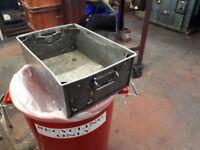 Industrial Galvanised Metal Storage Boxes