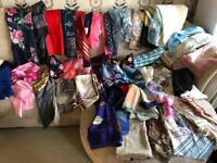 Vintage 57 scarves + hat gloves job lot
