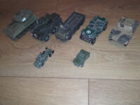 dinky size military army scout car ect