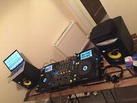Pioneer XDJ 1000 x2 + DJM 850 + KRK Rokit monitor speakers