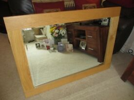 Solid Wood Wall Mirror for sale, 110 inch x 79 inch in size. Romford, Essex - £35.00. Cash only.